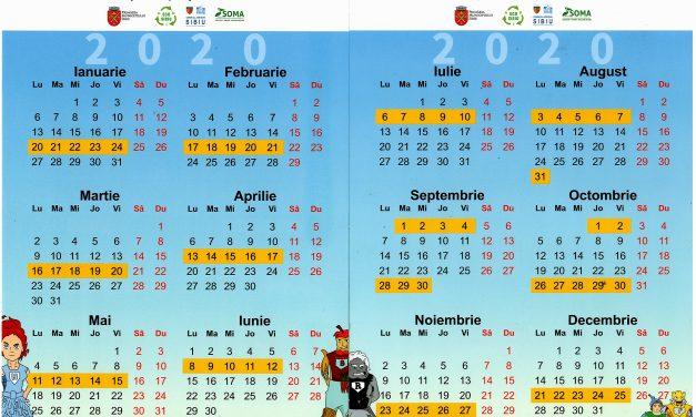 CALENDAR DE COLECTARE A DEȘEURILOR RECICLABILE ÎN ZONA RURALĂ ANUL 2020