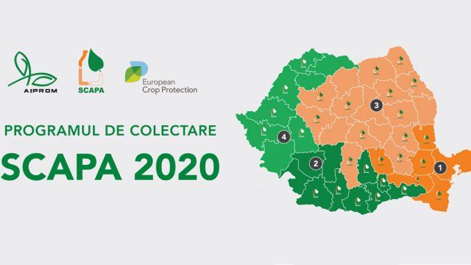 INFORMARE – privind campania gratuită de colecatre a ambalajelor de pesticide prin Programul SCAPA campania 2020