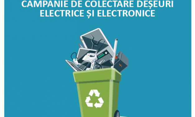 CAMPANIE DE COLECTARE DEȘEURI ELECTRICE ȘI ELECTRONICE – DEEE – SLIMNIC RECICLEAZĂ